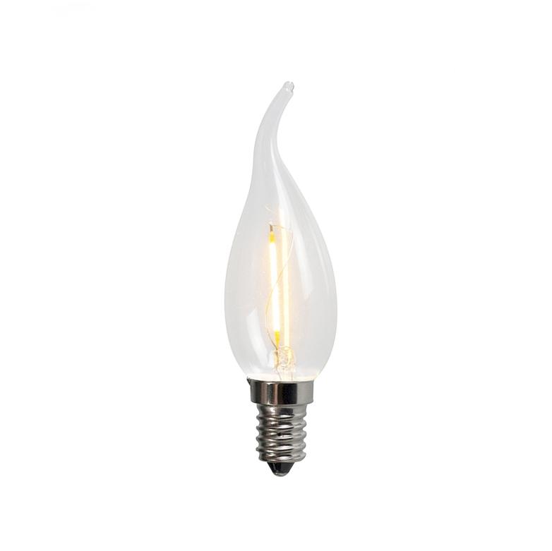 Żarówka świeczka LED E14 C35T 1W 100LM 2200K