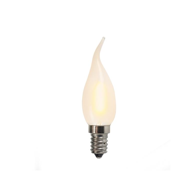 Żarówka świeczka LED E14 matowa C35T 1W 80lm 2200K