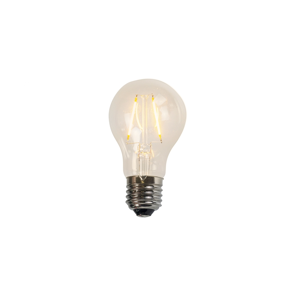 Żarówka LED E27 A60 2W 2200K filament przezroczysta