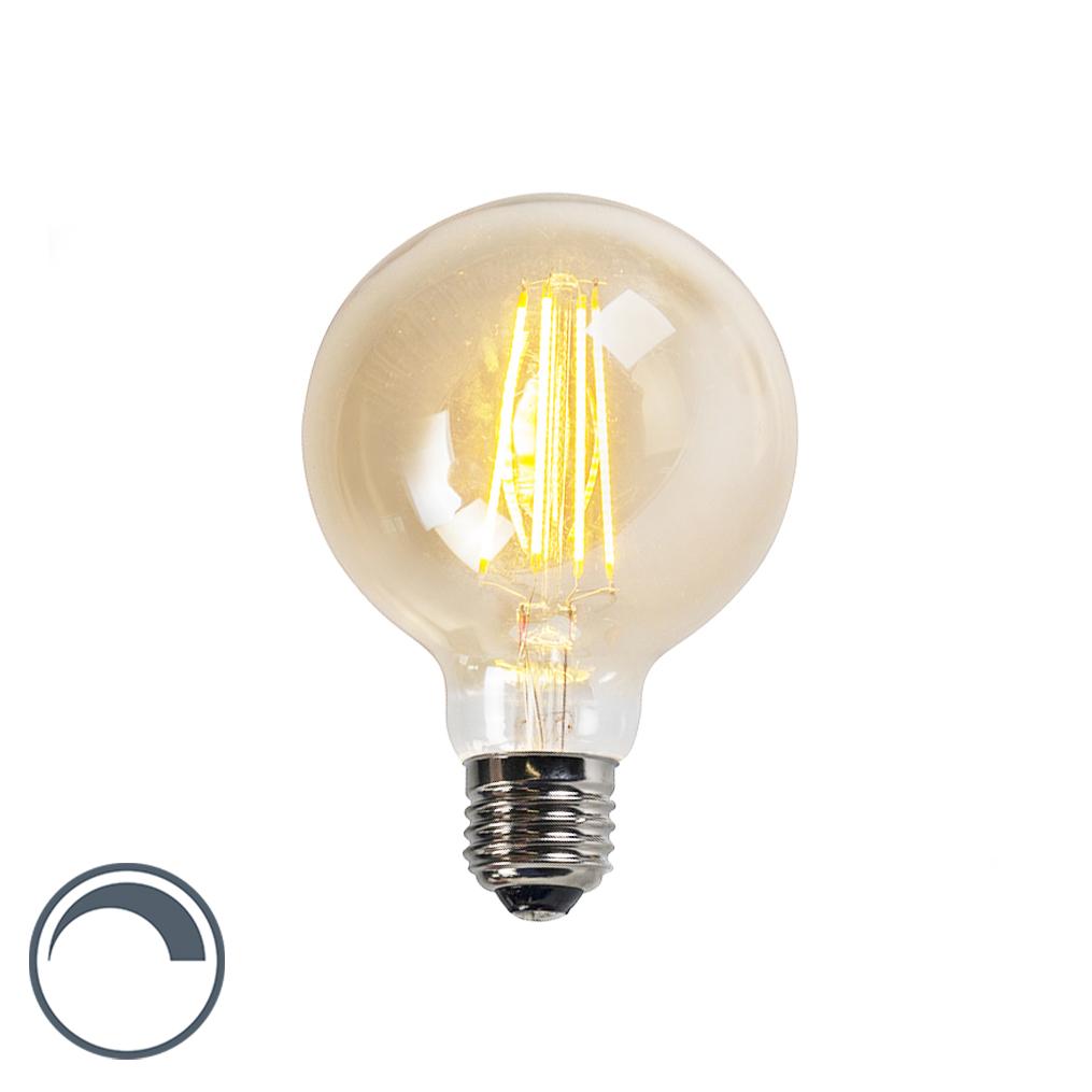 Żarówka LED E27 G95 5W 2200K złota ściemnialna
