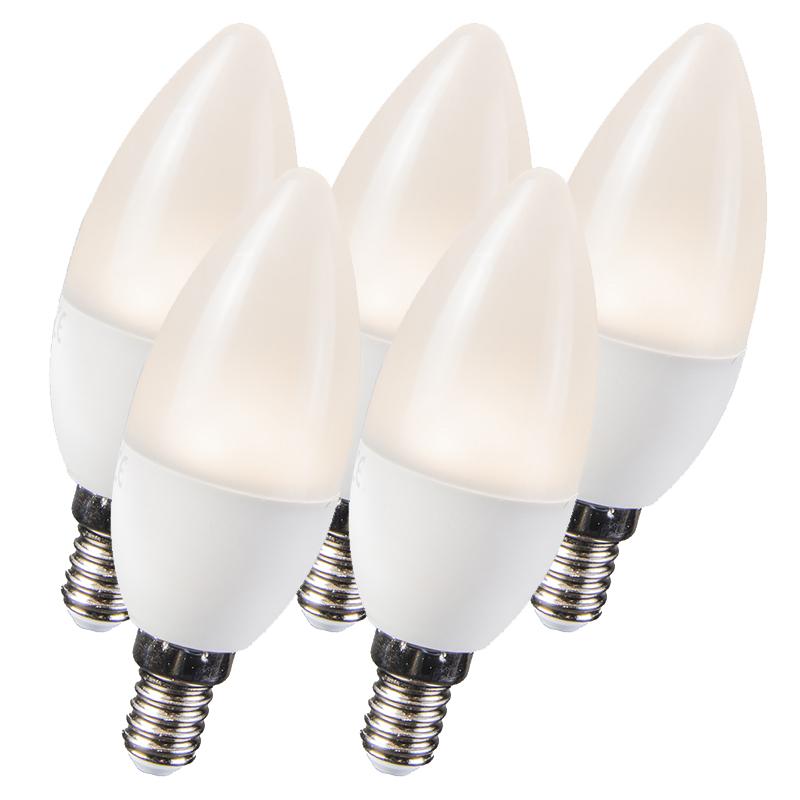 Set van 5 LED lampen 3.5W E14 C30