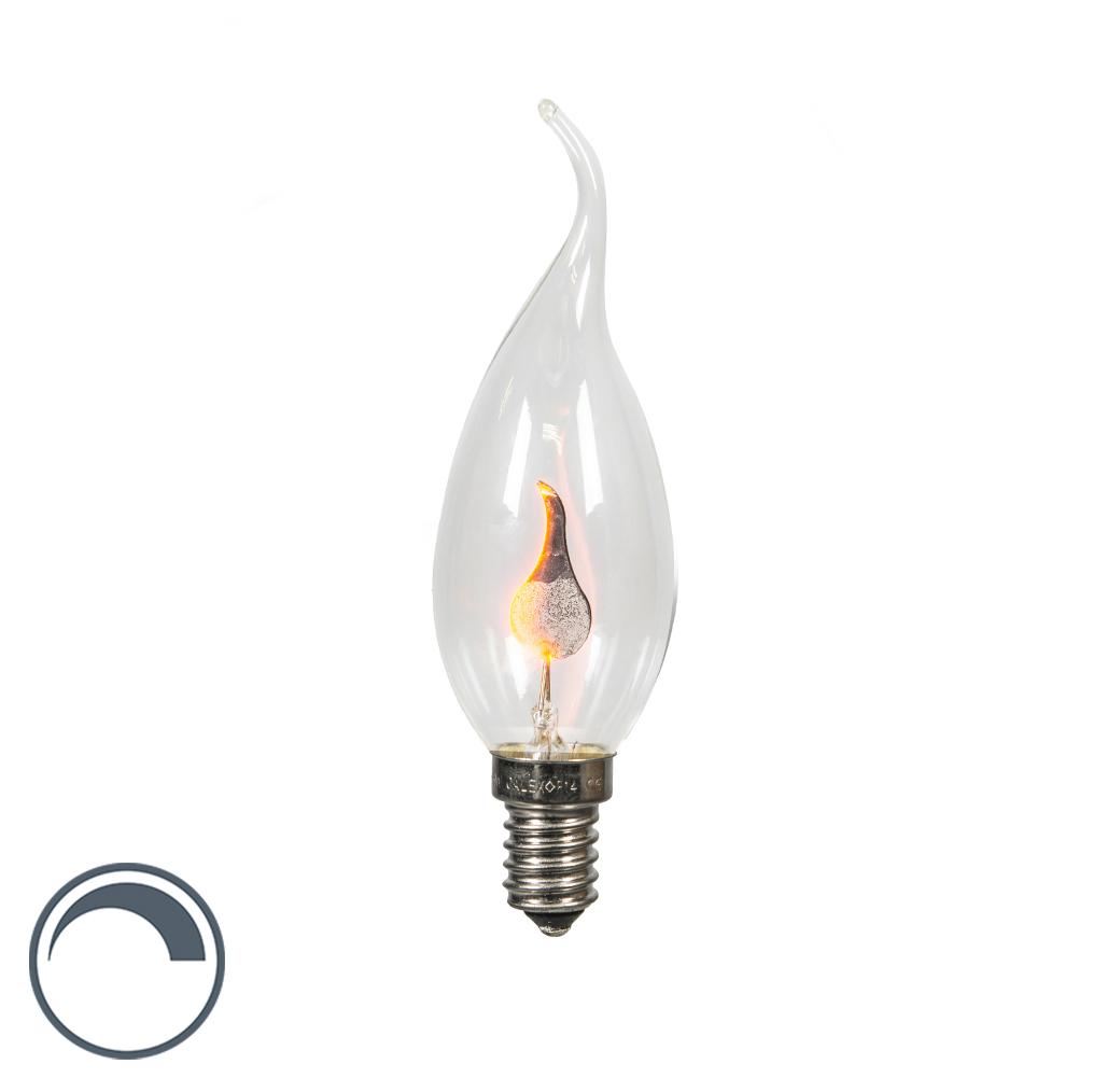 Calex Kronljuslampa E14 Glödlampa 3 Watt 5 Lumen Varmvitt Dimbar