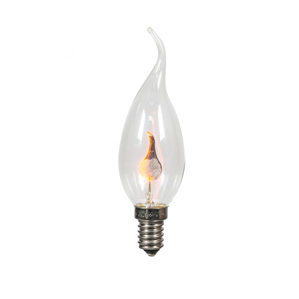 Żarówka świeczka migający płomień E14 BXS35 3W 5lm 2200K ściemnialna