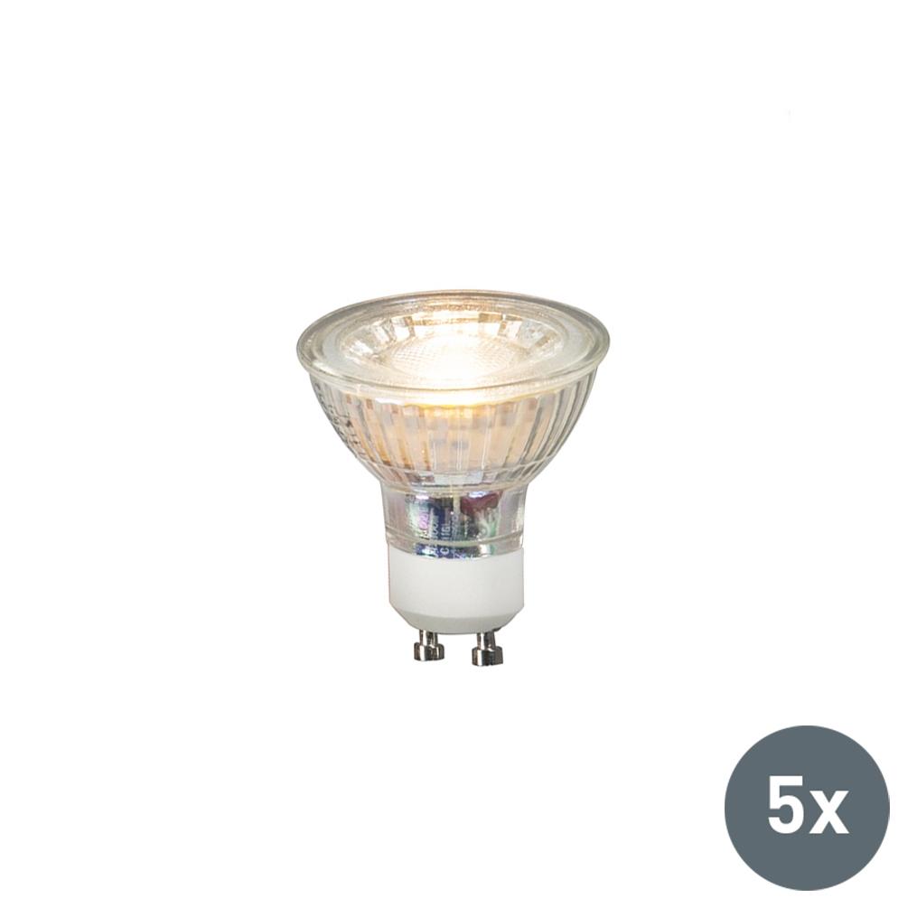 Zestaw 5 x żarówka LED GU10 COB 3W 230 lm 3000K