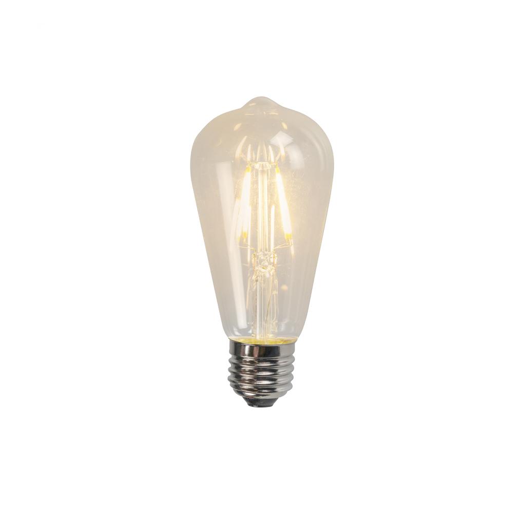 Set van 3 E27 LED filament lamp ST64 4W 320lm 2700K
