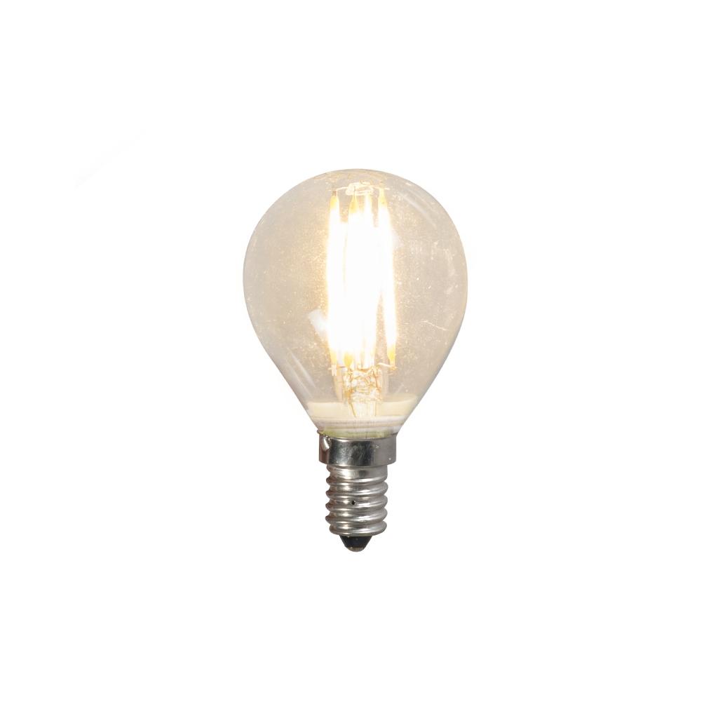 Żarówka LED E14 filament G45 4W 2700K przezroczysta
