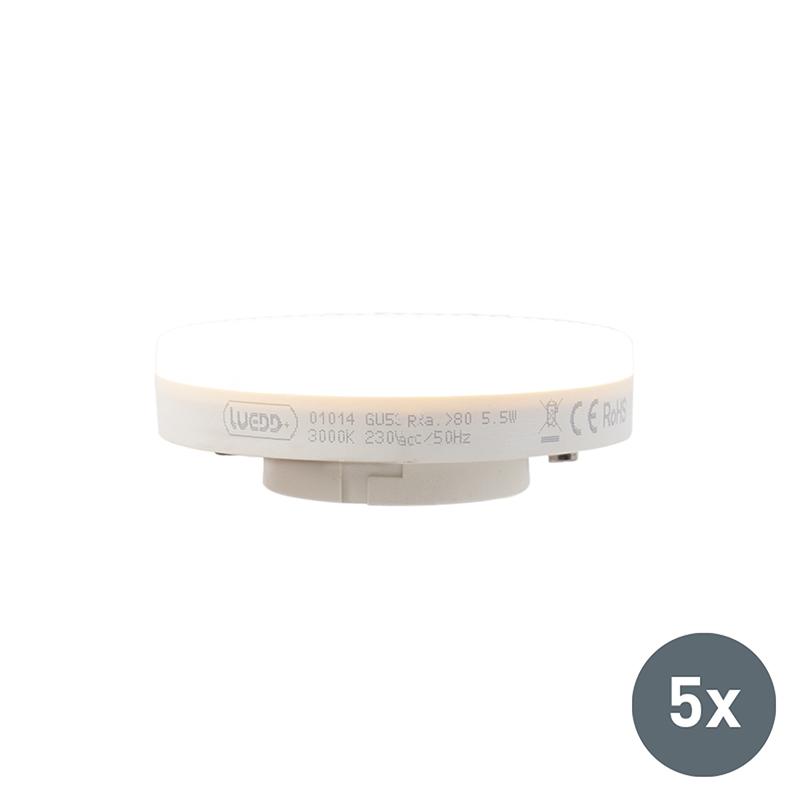 Ledlamp GX53 5.5W 470 lumen set van 5
