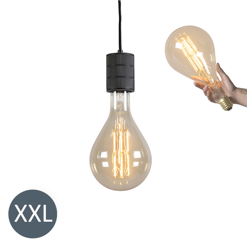 Hanglamp Splash zwart met dimbare LED lamp