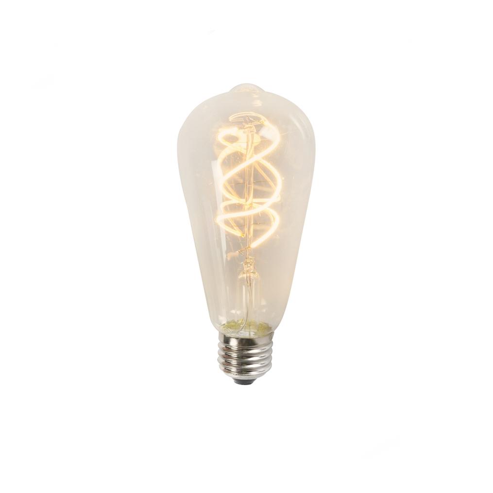 Żarówka LED filament spiralny żarnik ST64 5W 2200K przezroczysta