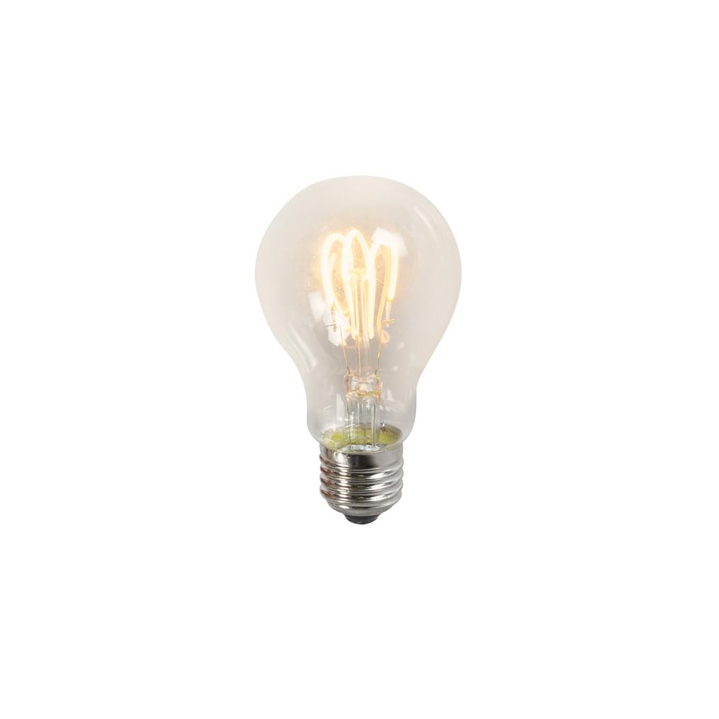 Żarówka LED E27 A60 3W 2200K przezroczysta filament skręcony żarnik