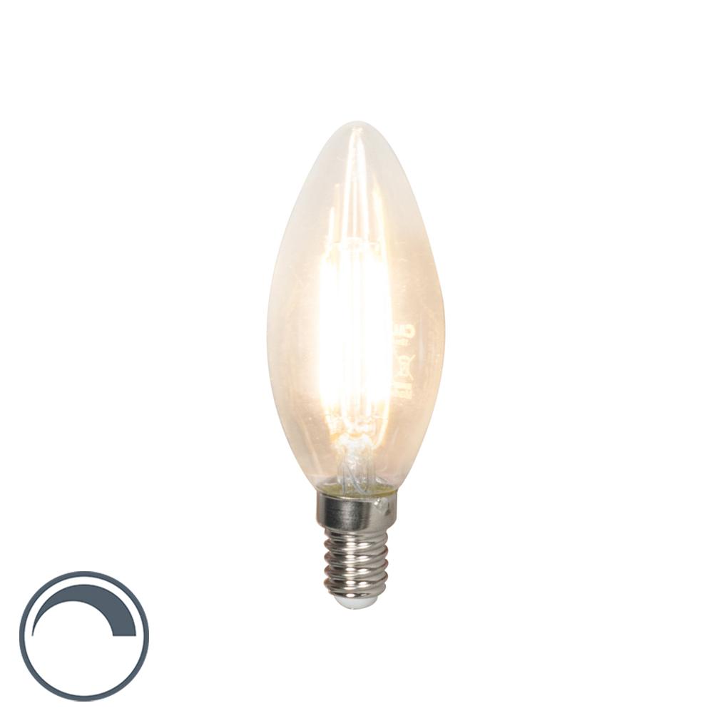 Żarówka świeczka LED E14 filament B35 3.5W 350lm 2700K ściemnialna