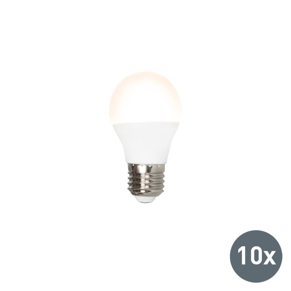 Set van 10 LED lamp G45 E27 3W 3000K