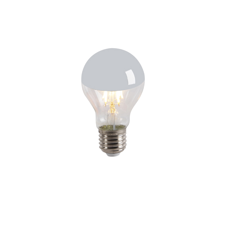 Set van 5 LED filamentlamp kopspiegel E27 240V 4W 300lm A60 dimbaar
