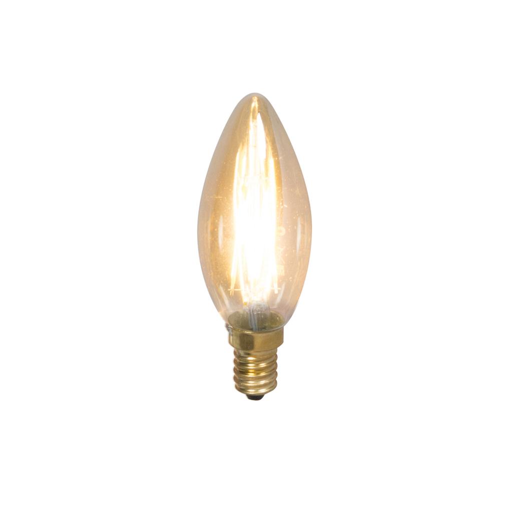 Set van 5 E14 dimbare LED filament kaarslampen 200lm 2100 K