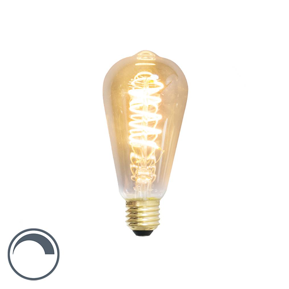 Żarówka LED E27 ST64 filament skręcony 4W 200lm 2100K ściemnialna