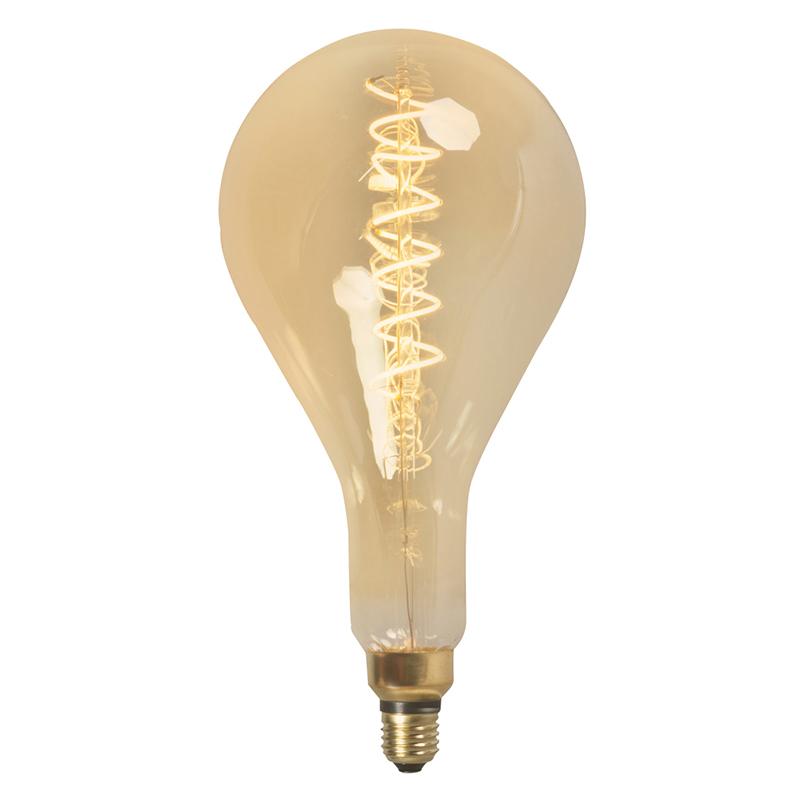 LED gedraaide filamentlamp MEGA splash E27 240V 4W dimbaar