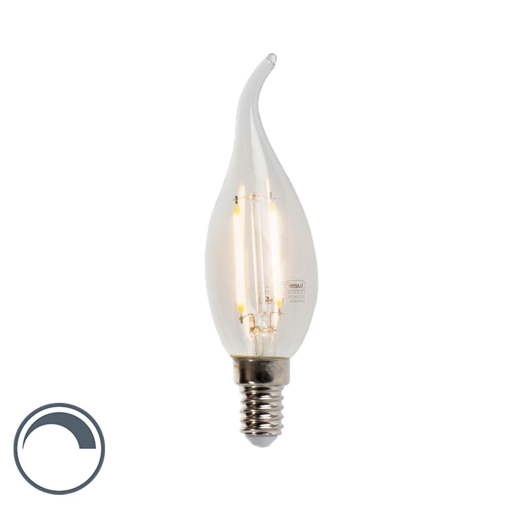 Żarówka świeczka LED E14 filament 3W 2700K 250lm F35 ściemnialna