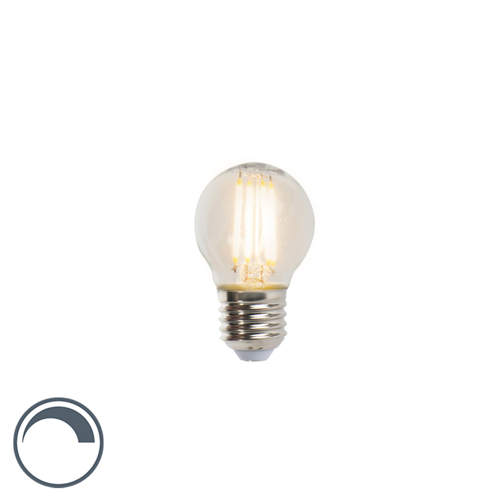 LED-Kugelleuchte E27 5W 470lm P45 dimmbar   Lampen > Tischleuchten > Kugelleuchten   Glas   LUEDD