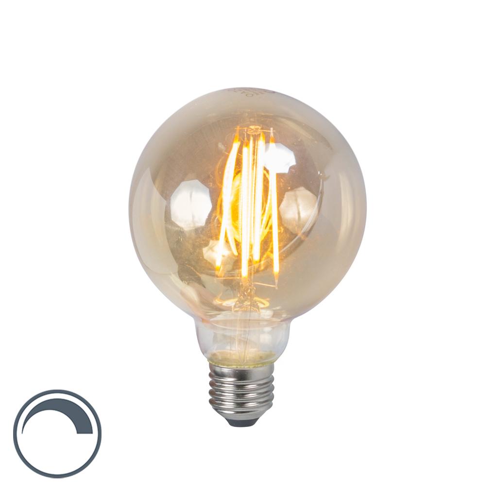 Żarówka LED E27 5W 2200K G95 przydymiona ściemnialna