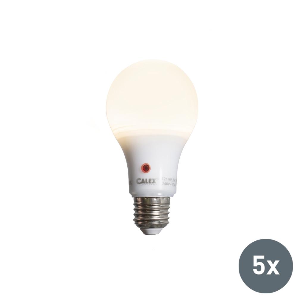 Set van 5 LED lamp A65 E27 8W 710 lumen met sensor