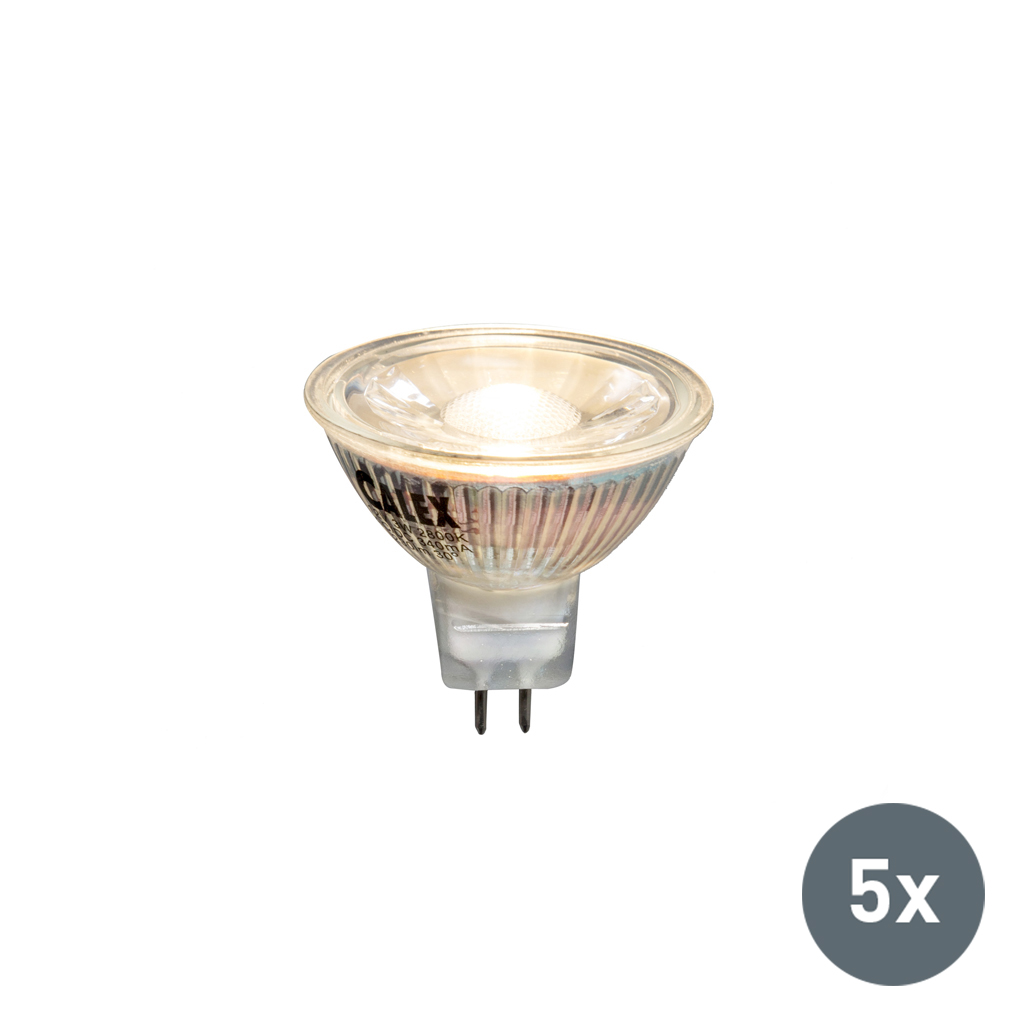 Set van 5 LED lamp MR16 3W 230 lumen