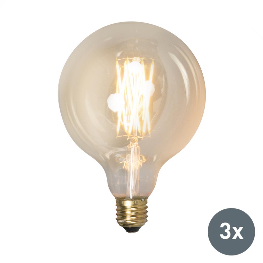 Set van 3 E27 dimbare LED lamp 4W 320 lumen