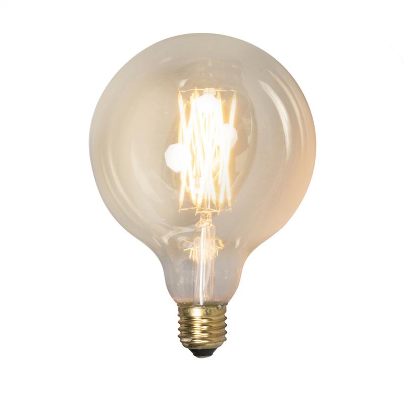 Set van 3 E27 dimbare LED lampen G125 goldline 320lm 2100 K