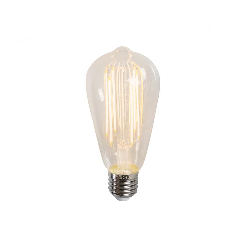 Set van 3 E27 dimbare LED filament lamp ST64 4W 350LM 2300K