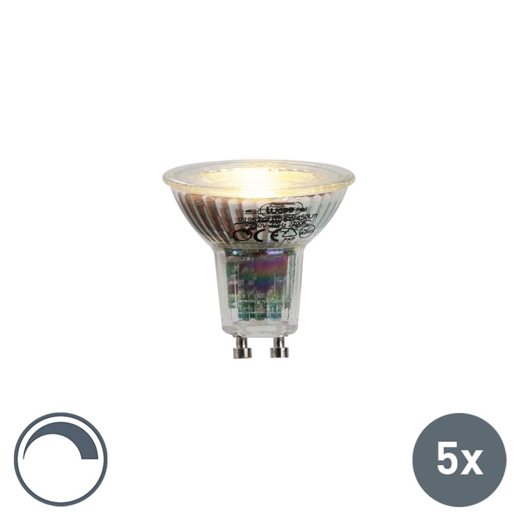 Zestaw 5 x żarówka LED GU10 6W 450 lm 2700K ściemnialna