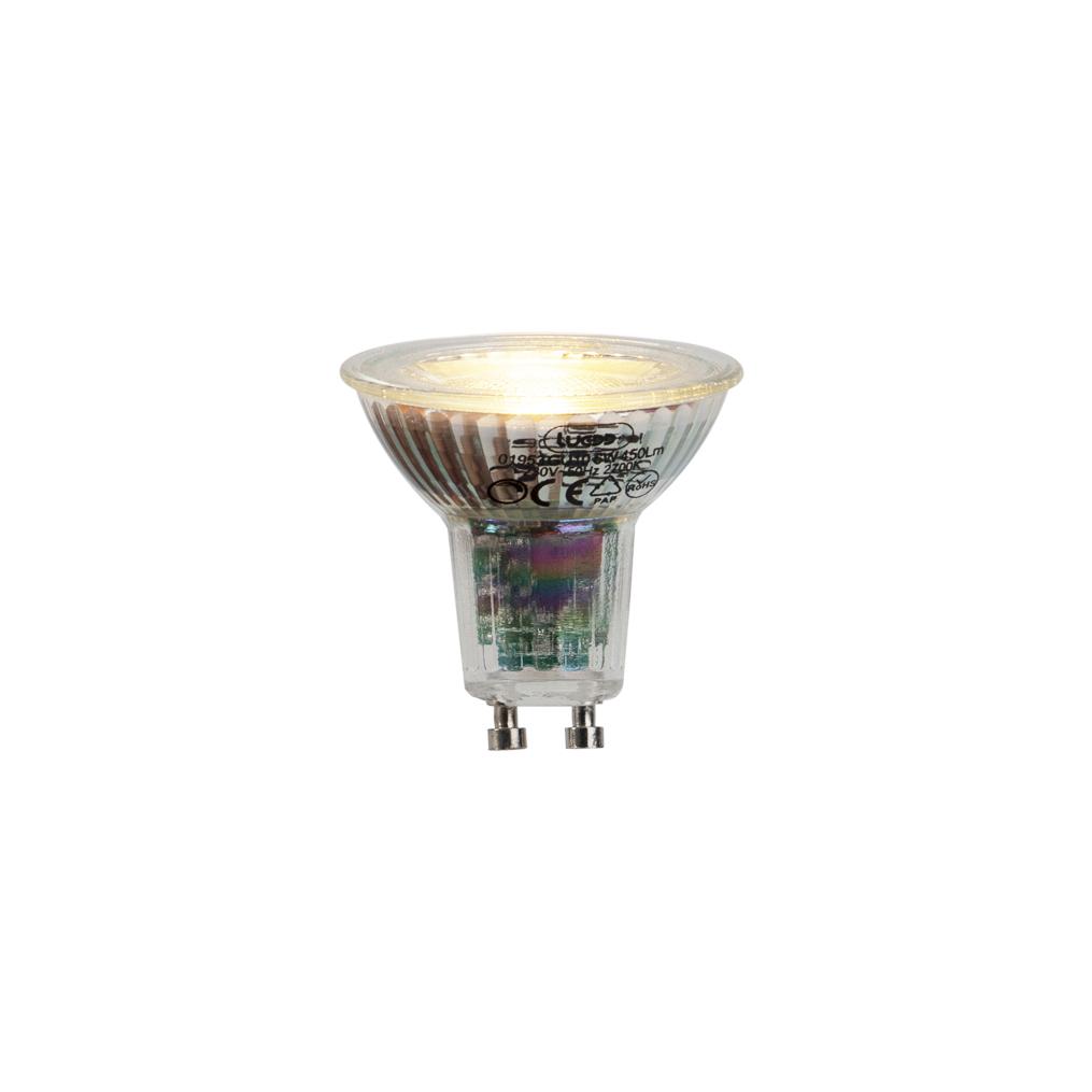 Set van 5 GU10 LED lamp 6W 450lumen 2700K dimbaar