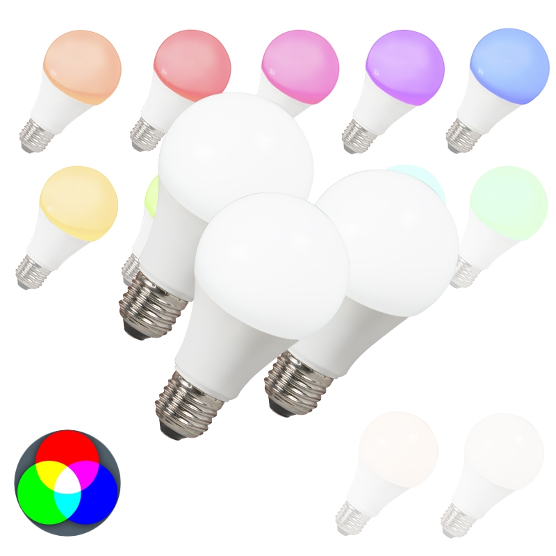 Set van 3 LED lamp E27 240V 7W 500lm A60 Smart Light