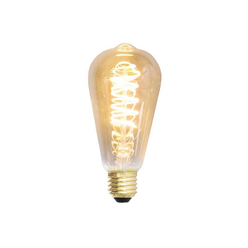 Set van 3 LED gedraaide filamentlamp Rustiek E27 240V 4W 200lm dimbaar