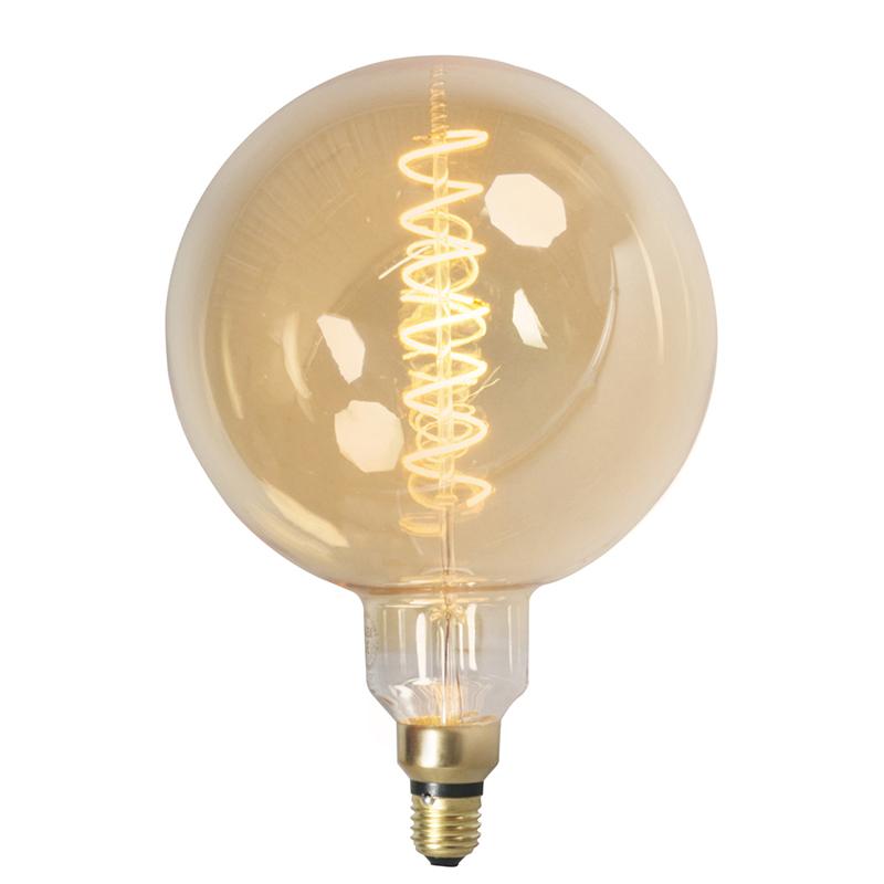 Set van 3 E27 dimbare LED filamentlampen MEGA globe 2100 K