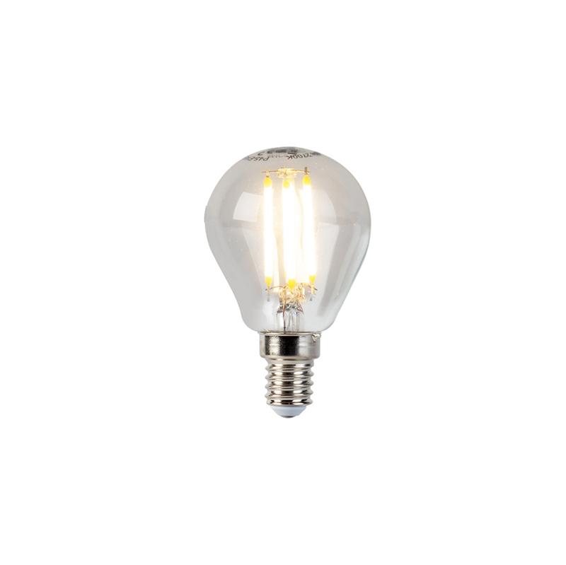Set van 5 E14 dimbare LED filament kogellampen 5W 470lm 2700K