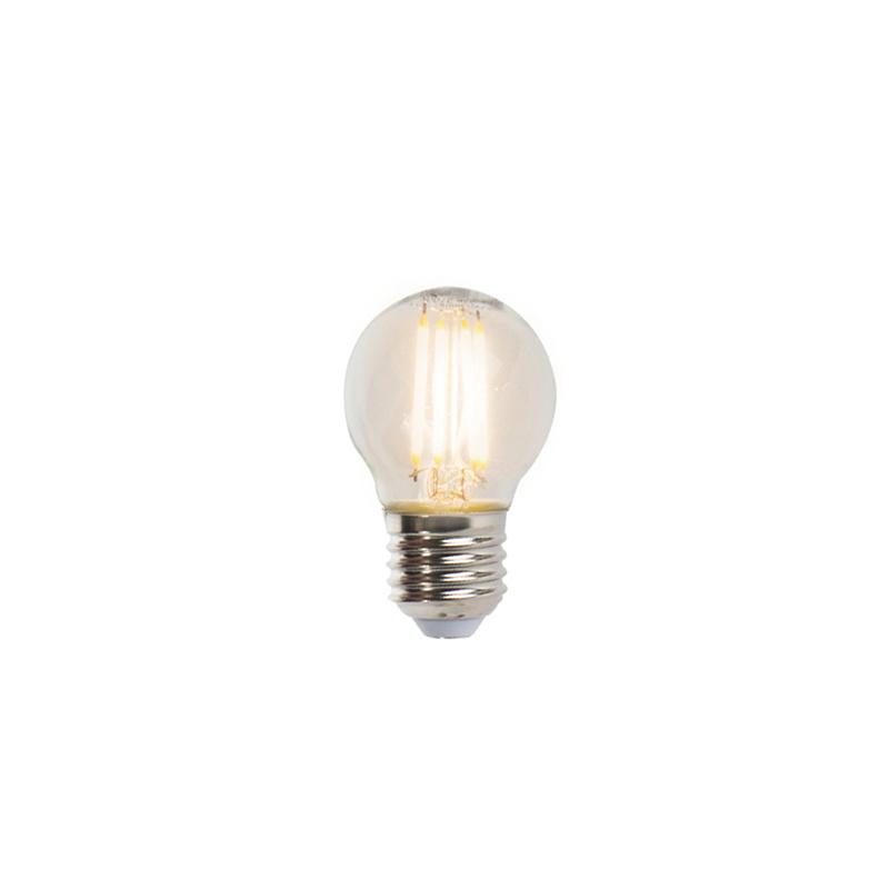 Set van 5 E27 dimbare LED filament kogellampen 5W 470lm 2700K