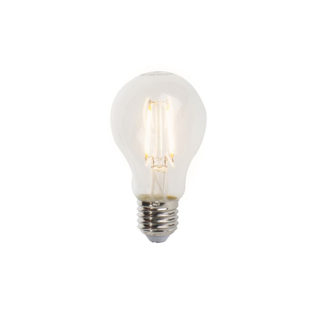 Set van 5 E27 dimbare LED filament lampen A60 5W 470lm 2700K