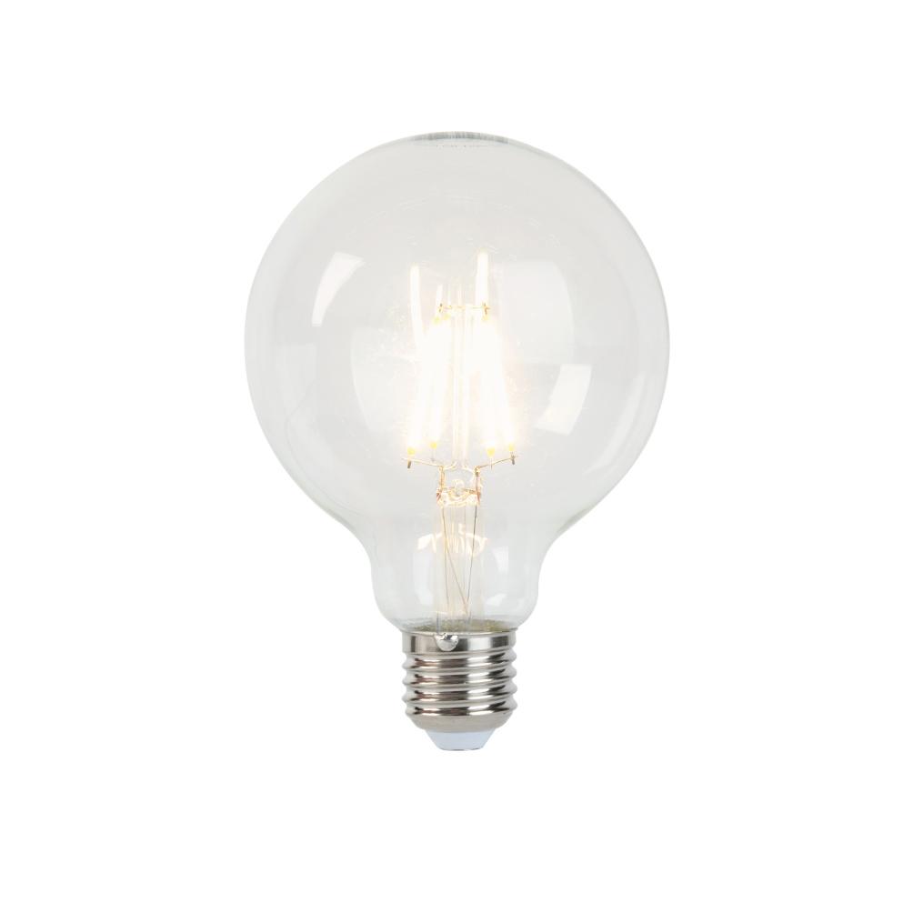 Set van 3 E27 dimbare LED filament lampen G95 5W 470 lm 2700K