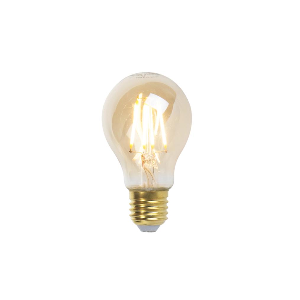 Set van 3 E27 dimbare LED filament lampen goldline 360lm 2200K
