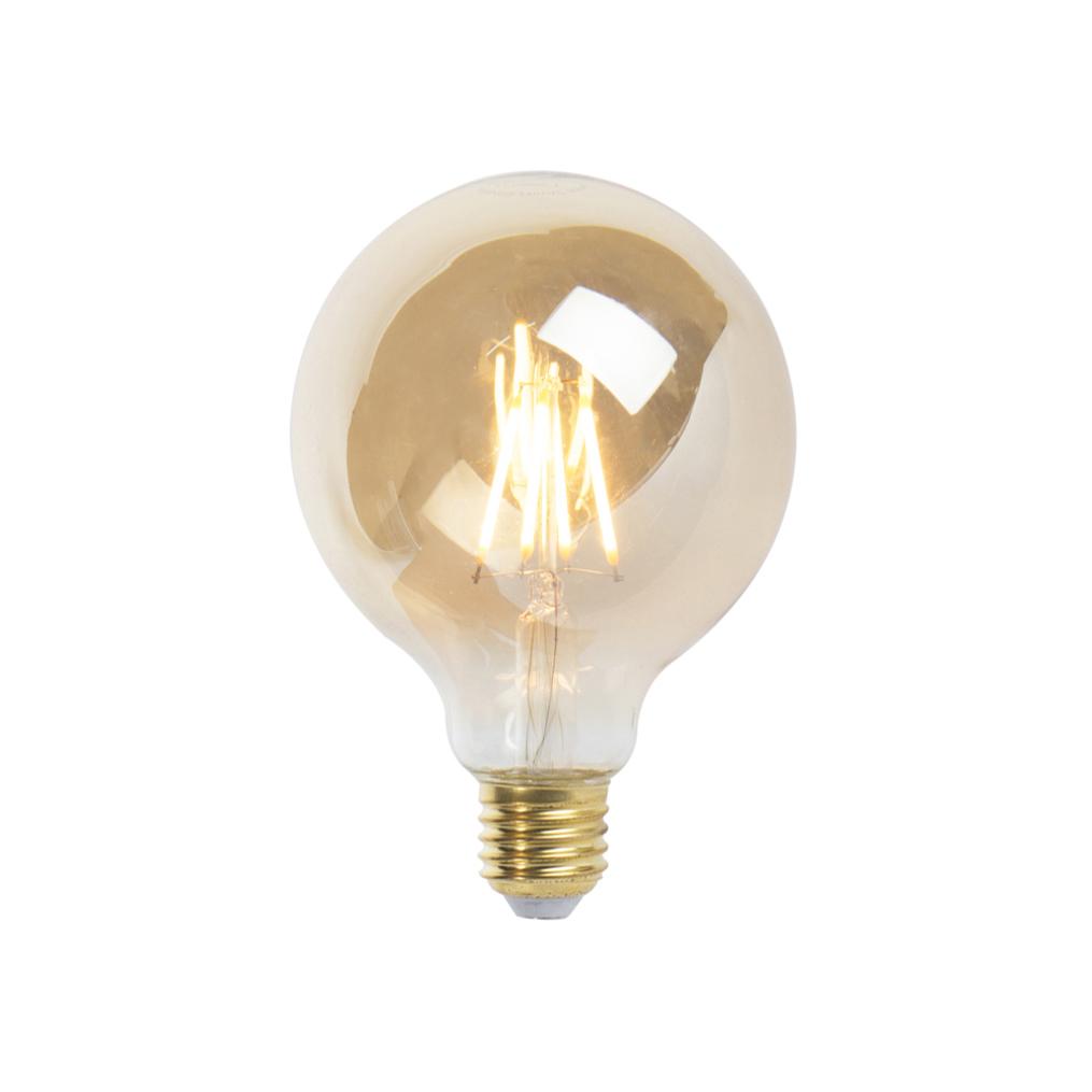 Set van 5 E27 dimbare LED filament lamp 9,5 cm 5W 360 lumen 2200K
