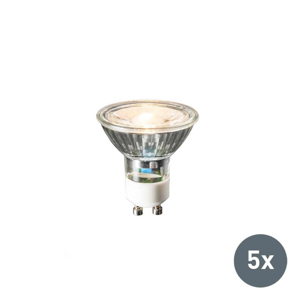 Zestaw 5 lamp LED GU10 COB 3W 230lm 2700K