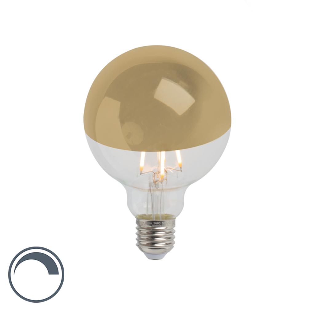 Żarówka lustrzana LED E27 G95 złota 280lm 2300K