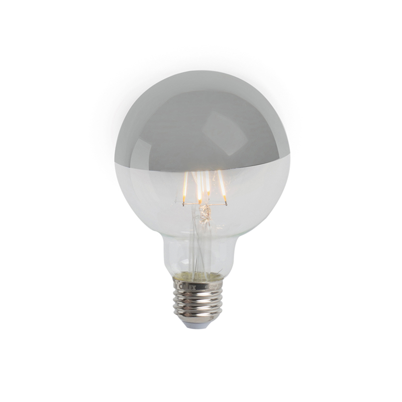 Set van 3 E27 dimbare LED kopspiegel G95 zilver 280lm 2300K