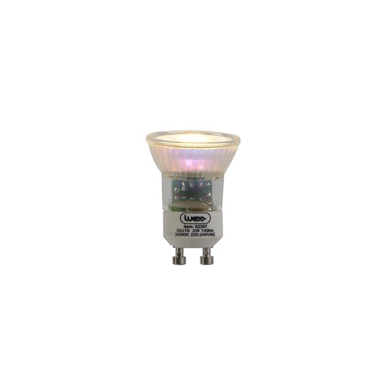 LED žiarovka GU10 35mm 2W 140 lm 3000 K.