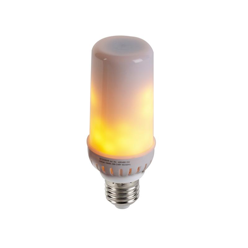 Żarówka LED E27 efekt płomienia 5W 300lm 1800K
