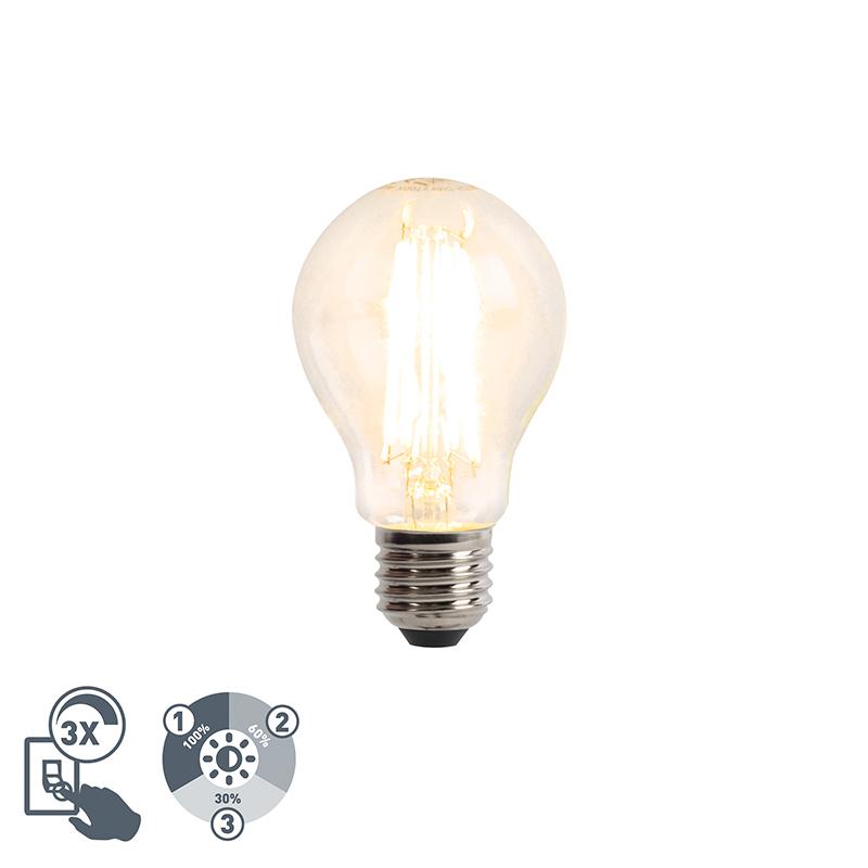 Żarówka LED E27 6W 806lm 2700K filament 3-stopniowe ściemnianie