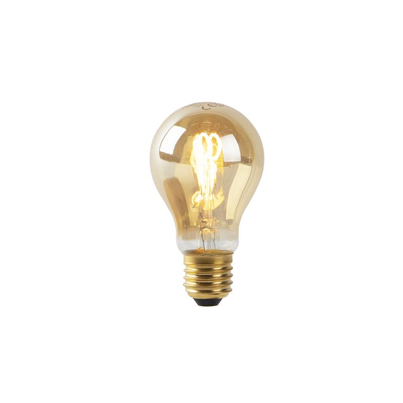 Bombilla LED E27 A60 2W 2200k cristal ámbar filamento