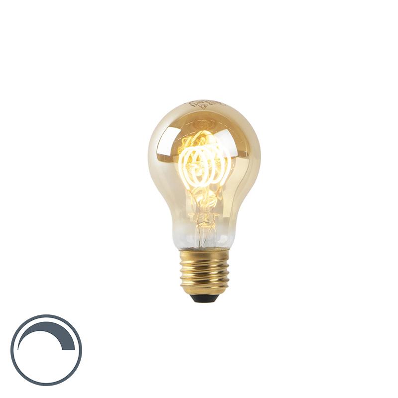 Żarówka LED E27 A60 4W 2200K filament złota ściemnialna