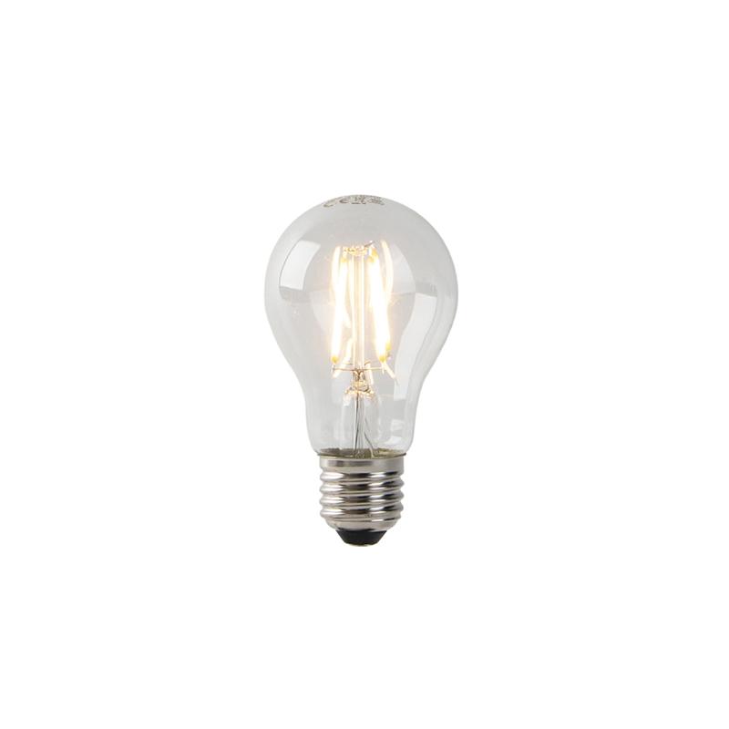 Żarówka LED E27 A60 3W 2200K filament przezroczysta