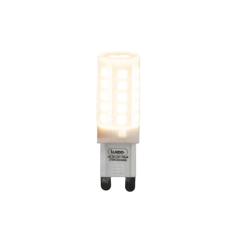 Set van 5 G9 dimbare LED lampen 3W 280 lm 2700K