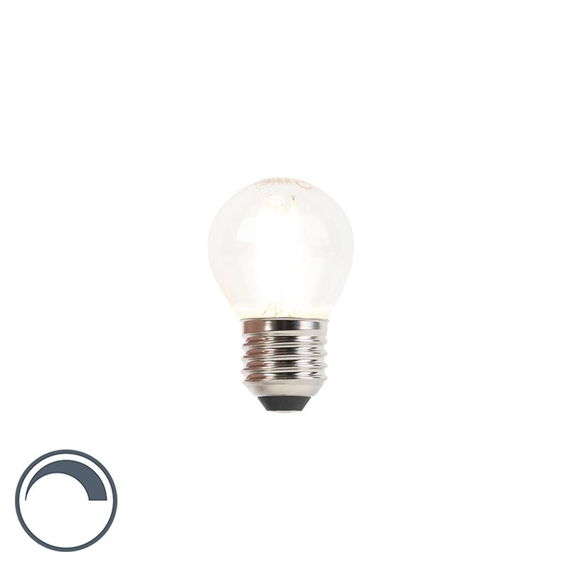 Żarówka kulka LED E27 P45 240V 3W 300lm filament ściemnialna